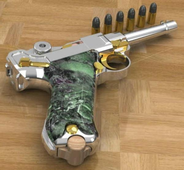 Pistole-grüner-marmor-super schönes design