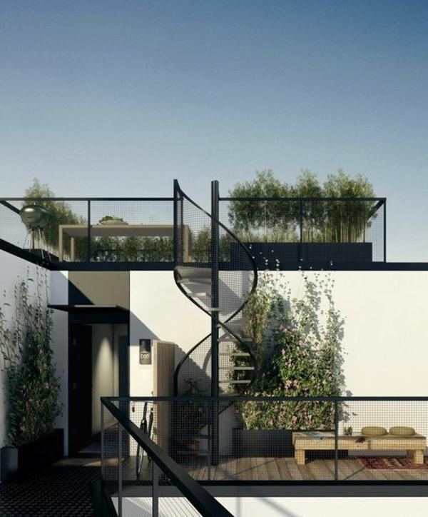 Terrassengestaltung-Beispiele-gewendelte-treppen