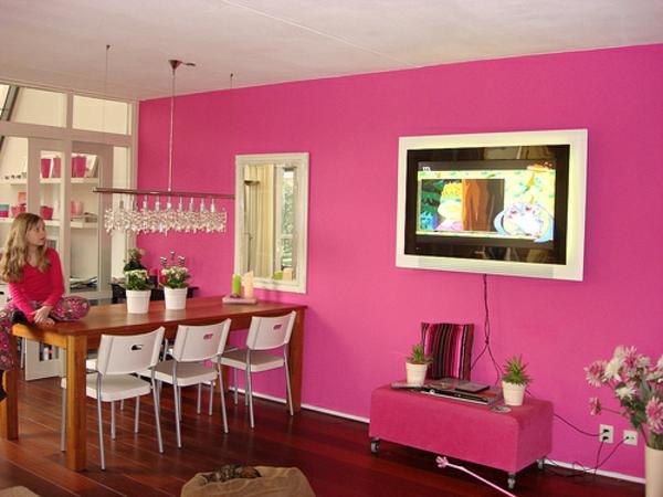pinke wandfarbe 31 super beispiele. Black Bedroom Furniture Sets. Home Design Ideas