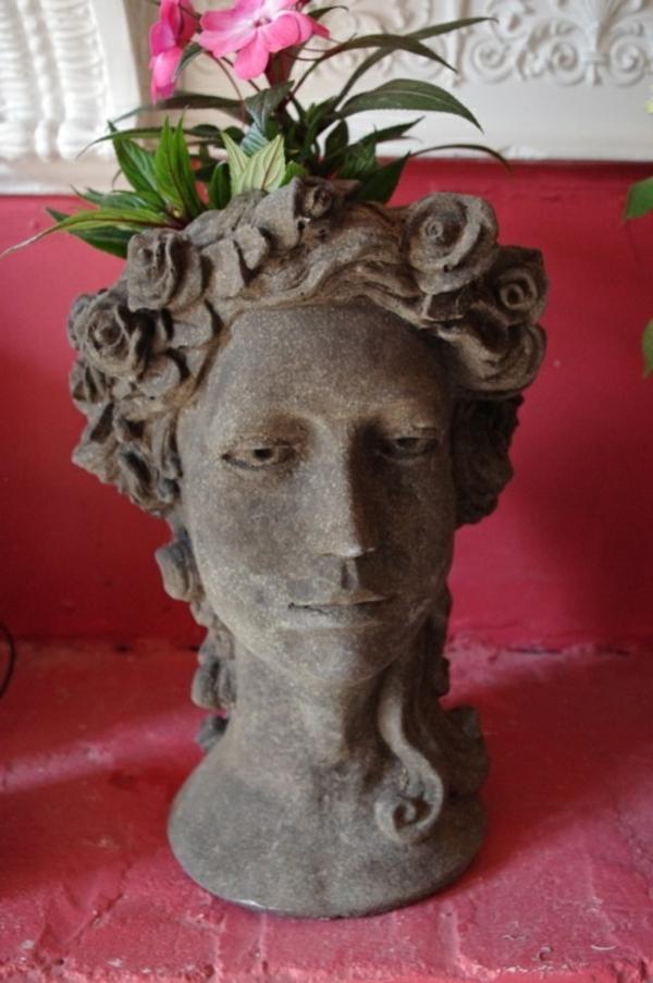 antike-gartendeko-statue-kopf