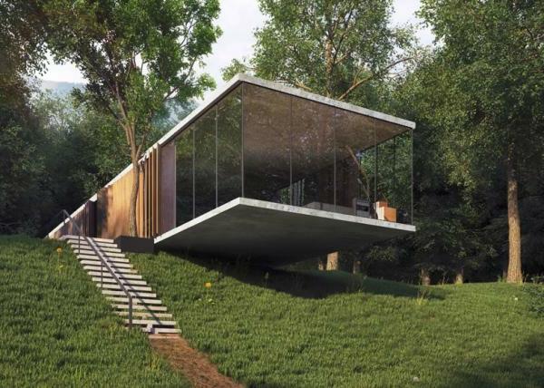 Modernes glashaus 41 kreative beispiele for Modernes haus bauen lassen