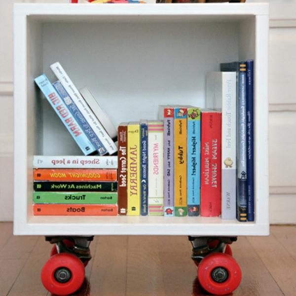 Bücherregal kinderzimmer selber bauen  Bücherregal selber bauen - 55 Ideen! - Archzine.net