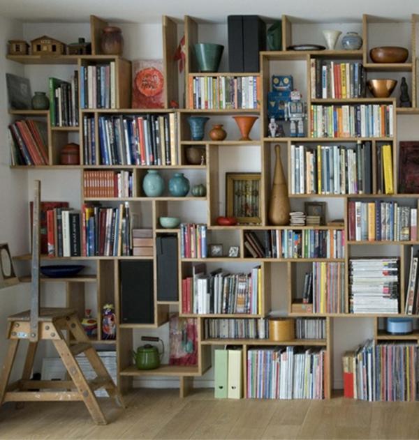wohnzimmerwand ideen:Wenn Sie ein schönes Bücherregal selber bauen wollen, müssen Sie