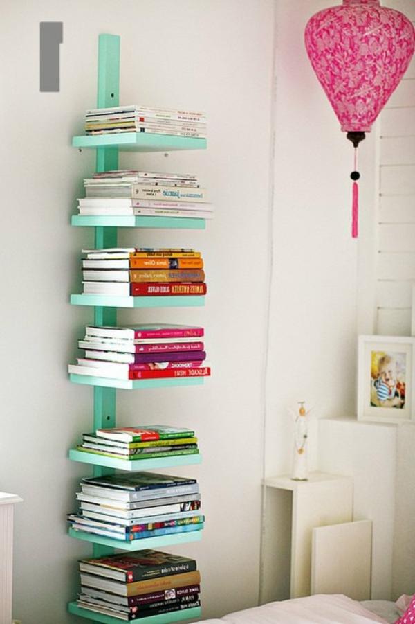 Unsichtbares bücherregal selber bauen  Bücherregal selber bauen - 55 Ideen! - Archzine.net