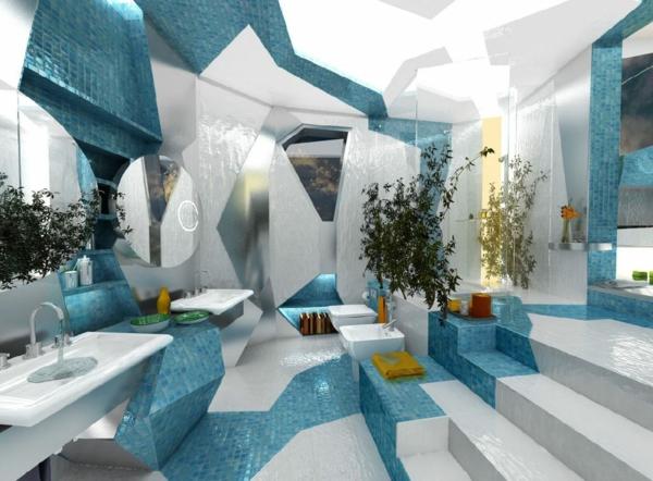 badezimmergestaltung-ideen-blau-und-weiß