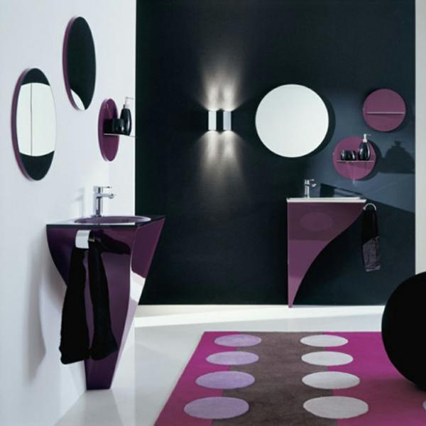 badezimmergestaltung-ideen-lila-punktchen
