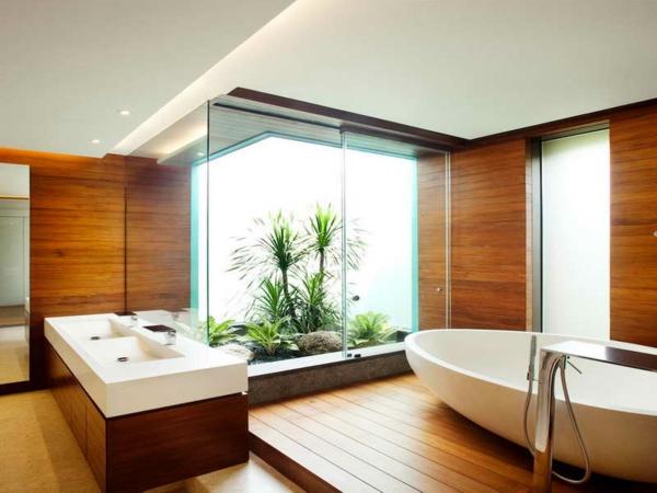 badezimmergestaltung-ideen-oval-holz