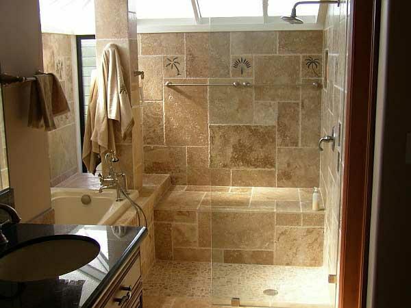 Klebefolie Fur Badezimmer Fliesen : Eine durchsichtige Wand aus Glas teilt die Dusche von dem Rest des