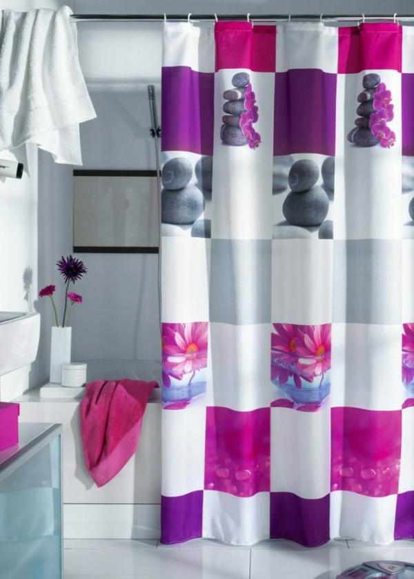 badvorhänge-lila-design