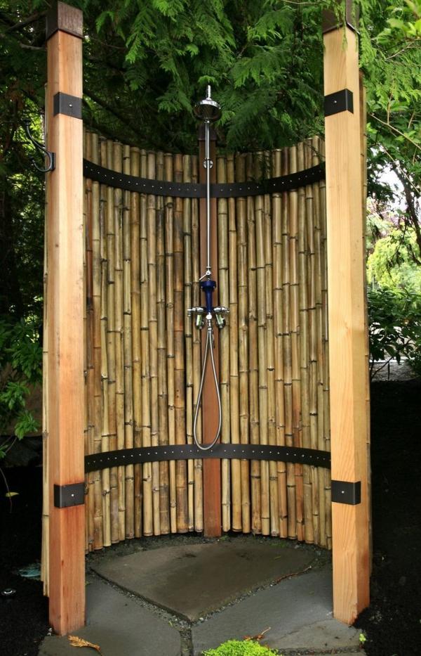 Runde Duschen Selbst Bauen : Der Bambus ist sehr gute L?sung f?r eine Sichtschutz f?r