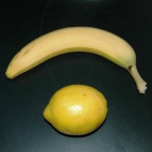 Banane und Zitrone - die perfekte Dekoration?