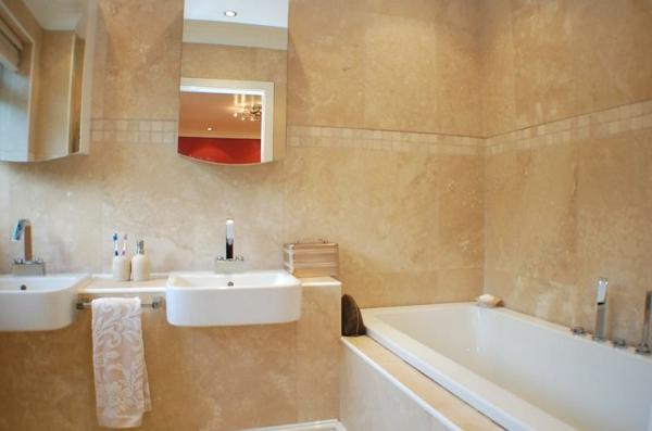 Beige Farbtöne Badezimmer Einrichten ...