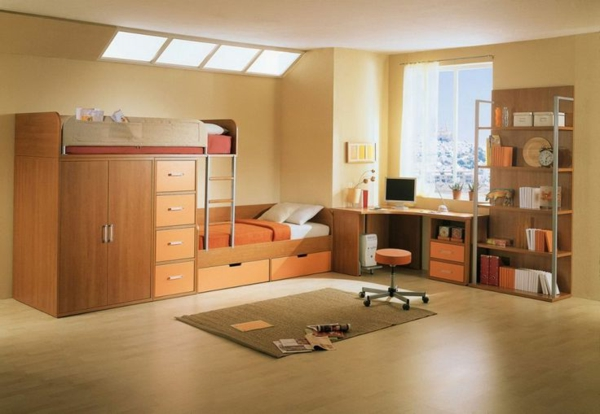 beige-farbtöne-kinderzimmer-gestaltung-ideen2