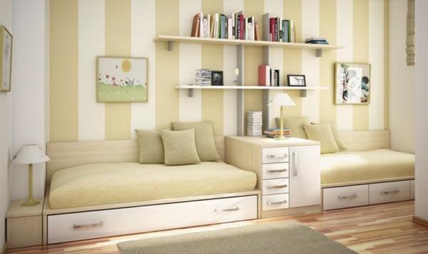 https://archzine.net/wp-content/uploads/2014/07/beige-wei%C3%9Fe-streifen-wandfarben-kombinationen.jpg - Kinderzimmer Beige