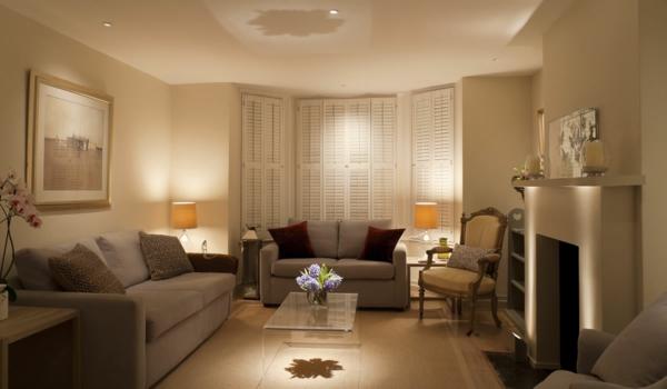 beleuchtungsideen-für-wohnzimmer-sehr-interessant-beige wände