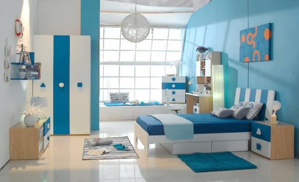 blau-weiß-kinderzimmer-farbideen-frisch