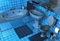20 Beispiele für Blaue Bodenfliesen im Badezimmer