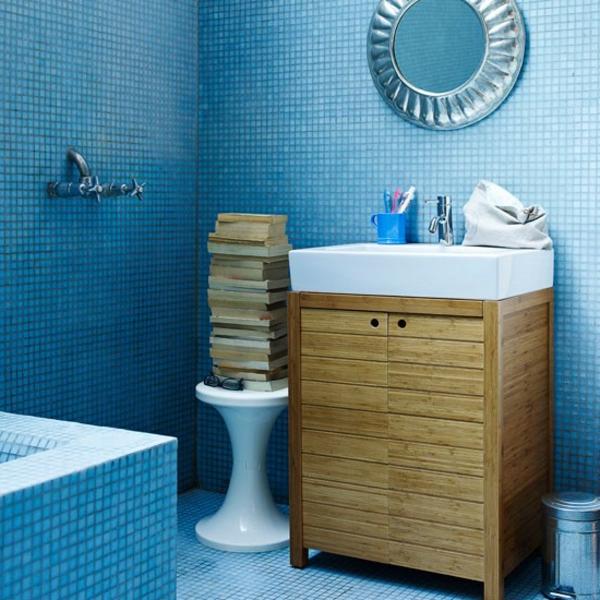20 Beispiele Fur Blaue Bodenfliesen Im Badezimmer Archzine Net
