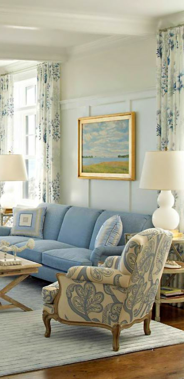 Vintage Wohnzimmer Blau ~ Inspirierende Bilder Von Wohnzimmer ... Wohnzimmer Deko Vintage
