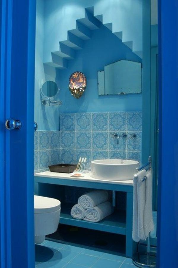 blaues badezimmer | Möbelideen
