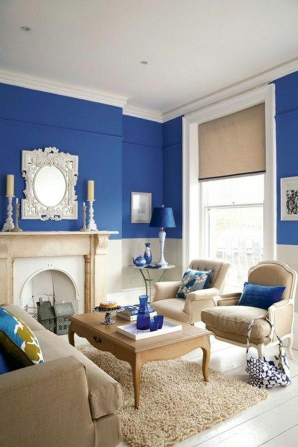 blaue-farbtöne-blaue-wohnzimmer-wandgestaltung (2)