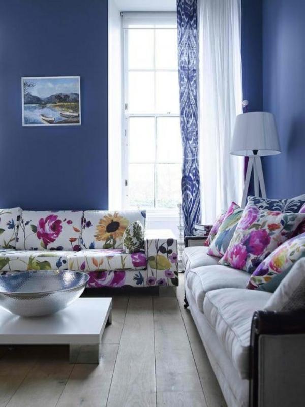 blaue-farbtöne-blaue-wohnzimmer-wandgestaltung2