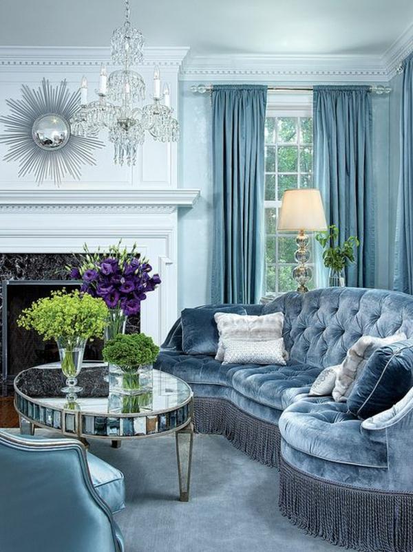 blaue-farbtöne-wohnzimmer-luxus