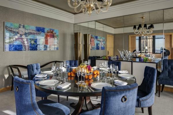 Blaue stühle und sessel   eine moderne design   entscheidung ...