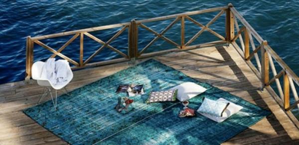 blaue-vintage-teppiche- ganz neben dem meer