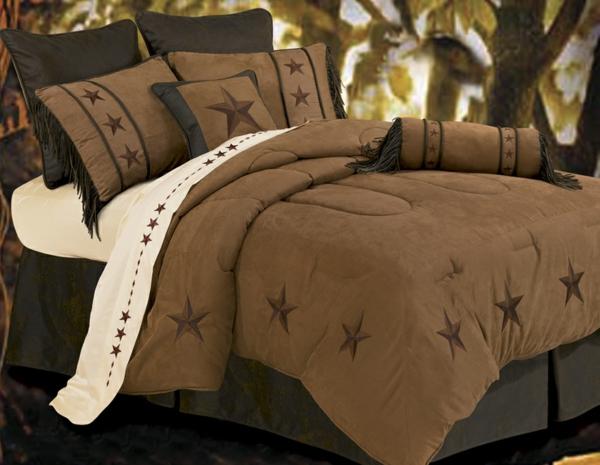 braune-bettwäsche-mit-ornamenten-wunderschön-wirken- sterne