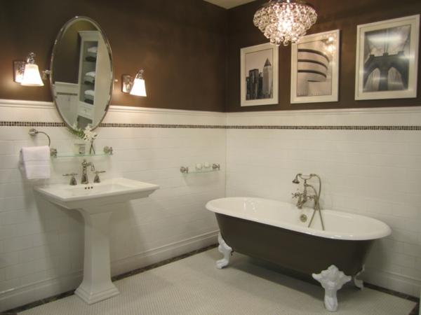 farbe wohnzimmer braune möbel:Braune Möbel und Wände im Badezimmer ...