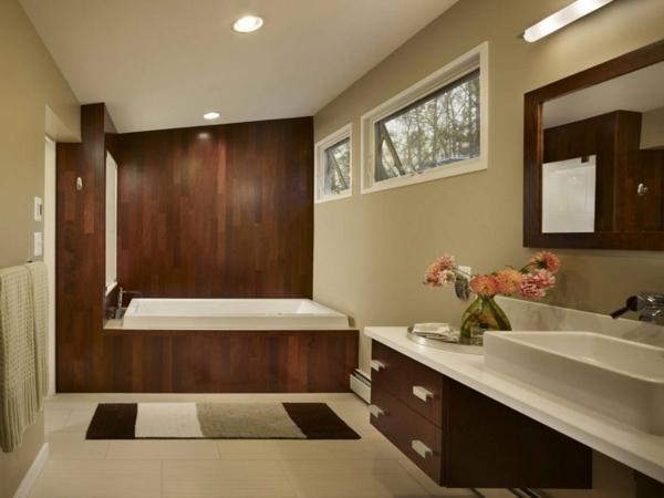 Braune Möbel Badezimmer Beige Teppich Einrichten ...