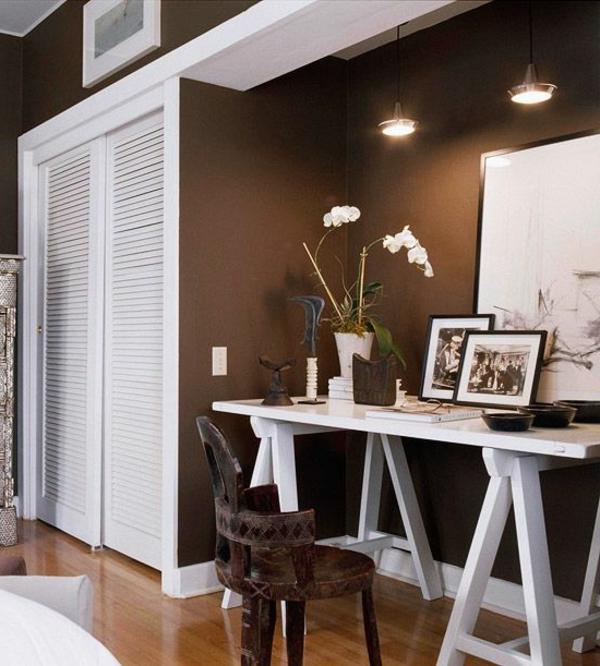 einrichten mit farben braune m bel und w nde f r erdverbundenheit. Black Bedroom Furniture Sets. Home Design Ideas