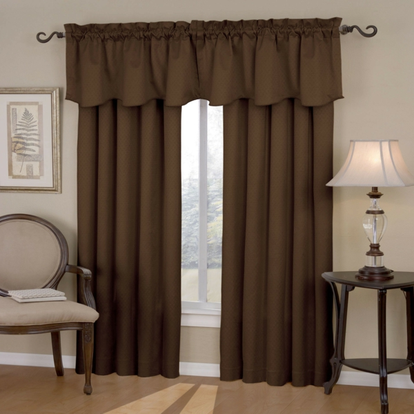 Einrichten mit Farben : Braune Möbel und Wände für