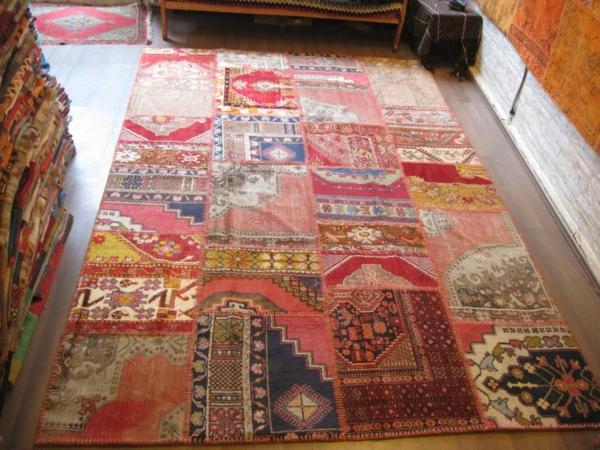 bunte-farben-für-vintage-teppiche-interessantes aussehen