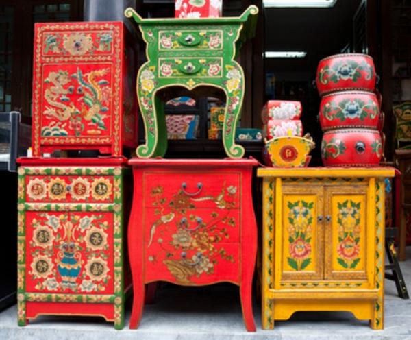 interessante chinesische sachen- kleine modelle von chinesichen schränken