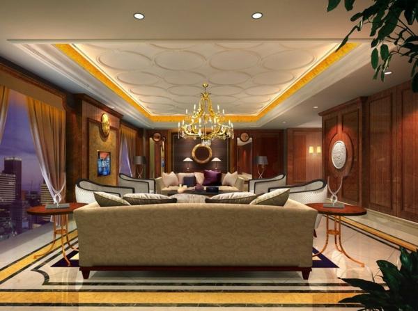 coole-beleuchtungsideen-für-wohnzimmer-sehr elegante gestaltung
