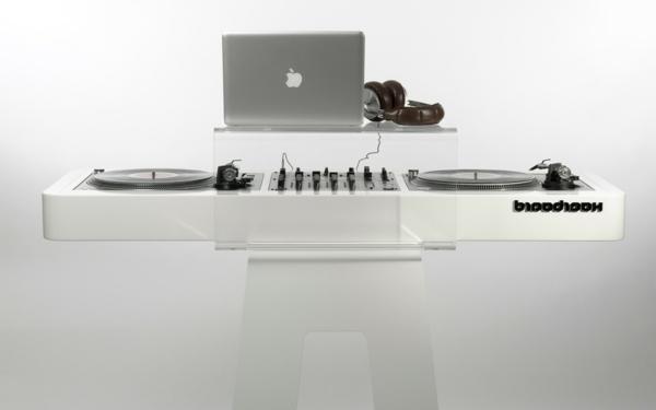 coole-ideen-für-dj-tische-hintergrund in weiß