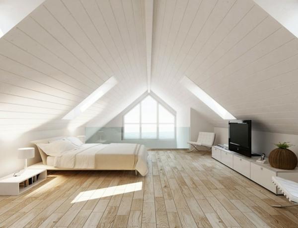 dach-in-weiß-wohnideen-mansarde-schlafzimmer