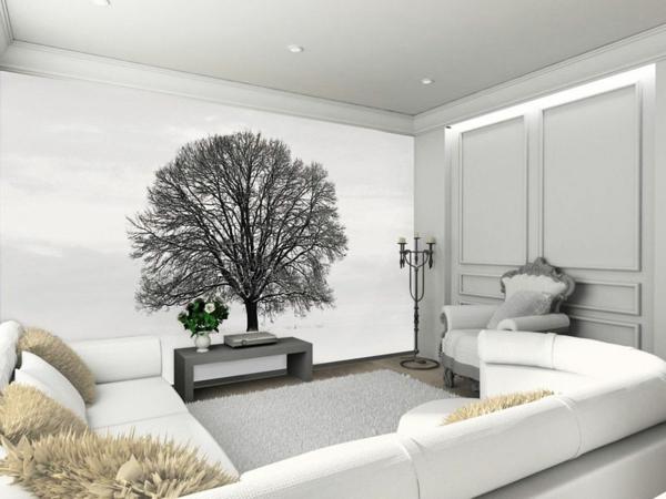 Wohnzimmer Farbgestaltung Wande : Wohnzimmer Gestalten Mit Tapeten ...