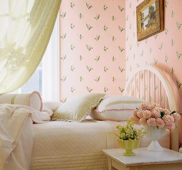 dekotapeten-rosa-schlafzimmer