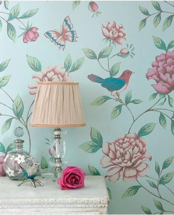 dekotapeten-vintageßblumen