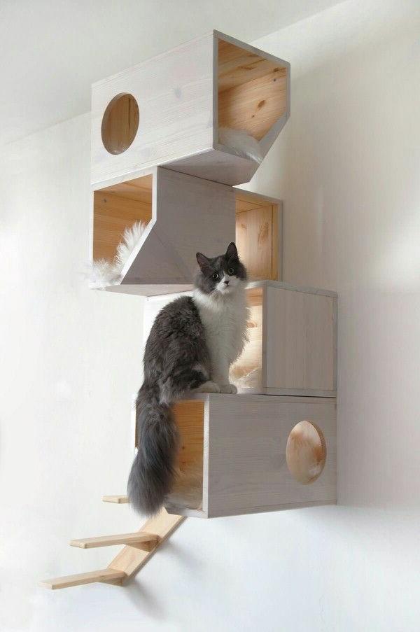 design-katzenmöbel-weiß
