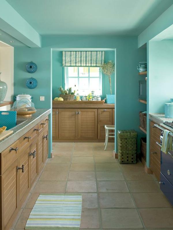 die-ganze-küche-in-türkis-streichen-wandgestaltung-küche-modernes-design