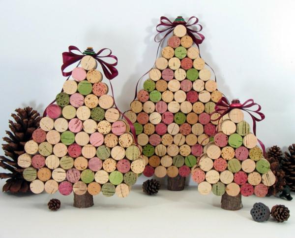 Basteln Mit Holz Mit Kindern Weihnachten ~ Basteln mit Korken – neue interessante Vorschläge!