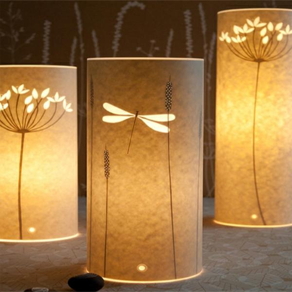 drei-wunderschöne-papier-lampen-super modern aussehen