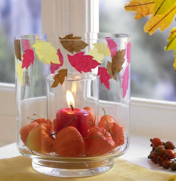 42 neue ideen f r deko mit kerzen - Herbst deko ideen fur ihr zuhause ...