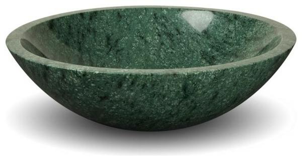 ein-modell-vom-waschvbecken-grüner-marmor-hintergrund in weiß