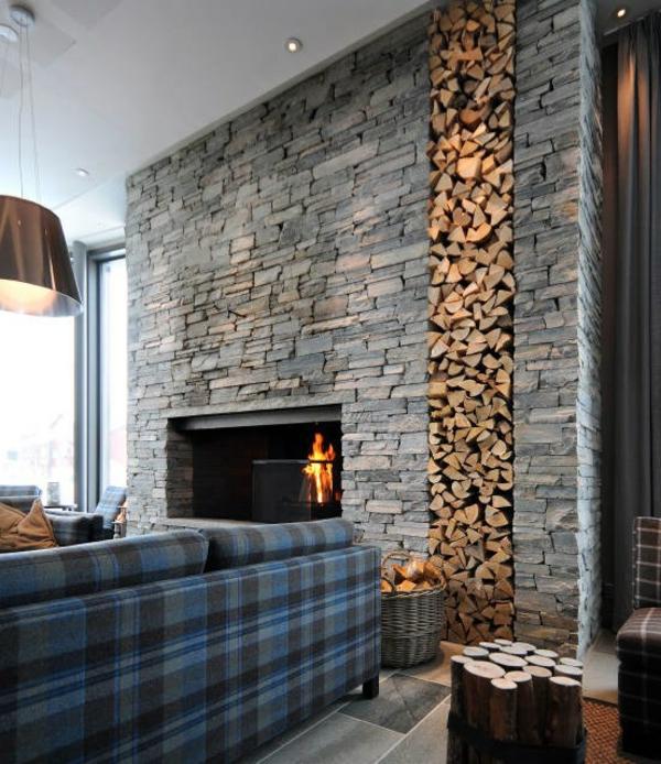 wohnzimmer wand steine: Tapete Im Wohnzimmer Sollte Der Wirkung Wegen Nur An Eine Wand Picture