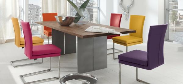 Esszimmerstühle bunt  Kreative Esszimmergestaltung - können Sie es? - Archzine.net